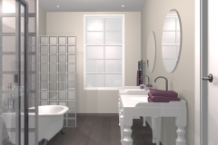 Salle de bain dans une demeure dans la Drôme