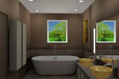 Salle de bain à Millery