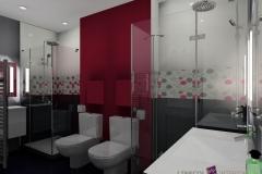 Salle de bain dans un petit espace