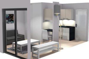 Réalisation studio Lyon 07 : Projection 3D